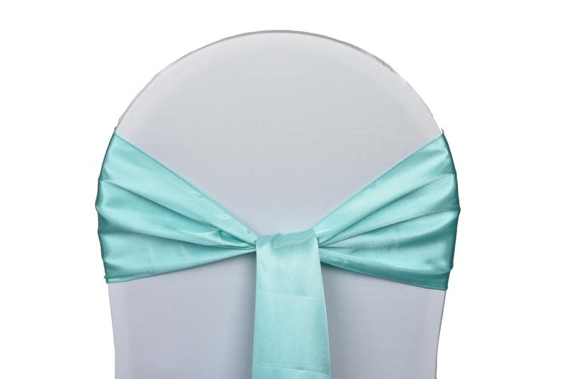 noeud satin bleu pour housses chaises