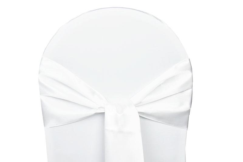 noeud satin blanc pour housses chaises