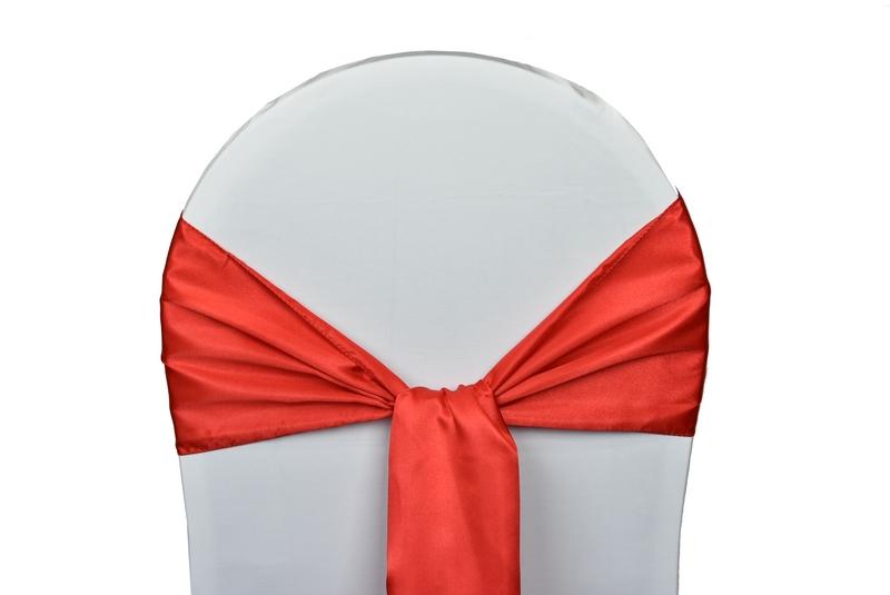noeud satin rouge pour housses chaises