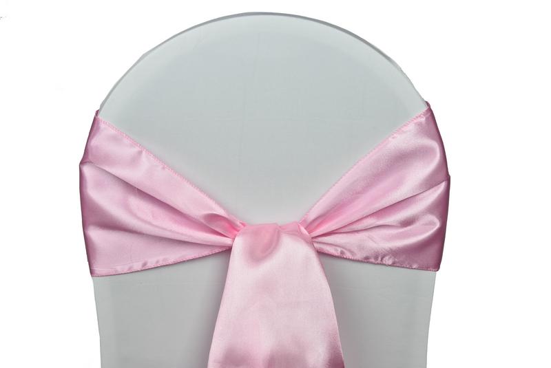 noeud satin rose pale pour housses chaises mariages