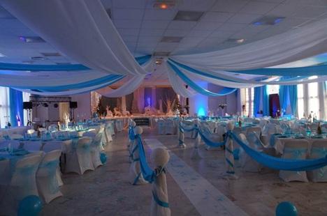 TENTURES POUR MARIAGES -decor plafond mariage et habillage mural en voilages