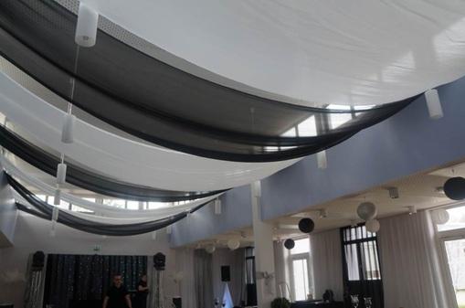 TENTURES - voilages - tissus mariage pour plafond decorations